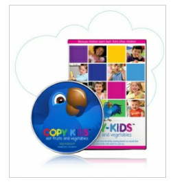 The Copy Kids dvd is the perfect way to kids get on track with healthy habits that can last a lifetime.  Teaching kids early is the best way to help them learn and build healthy eating habits as well