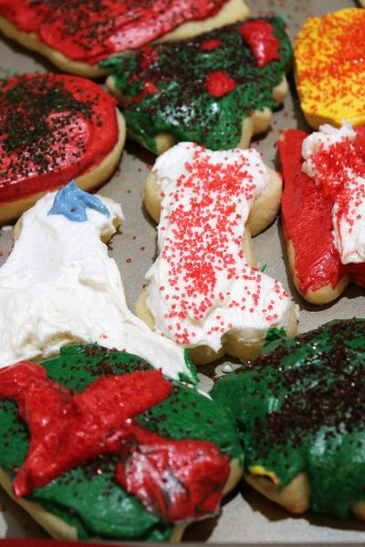 Sugar Cookies are the perfect treat to leave for Santa and a fun Christmas cookie to make as well! With homemade frosting and sprinkles you can't go wrong!