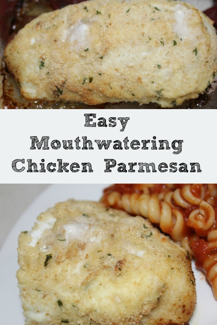 Chicken Parmesan can sound like a hard recipe but this is a simple way to get great tasting yummy chicken Parmesan! Great weeknight dinner recipe!