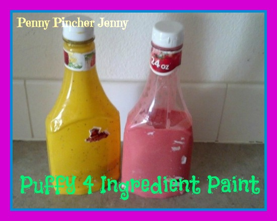 Puffy Paint!! Four Pantry Ingredients For Tons Of Kids Fun!