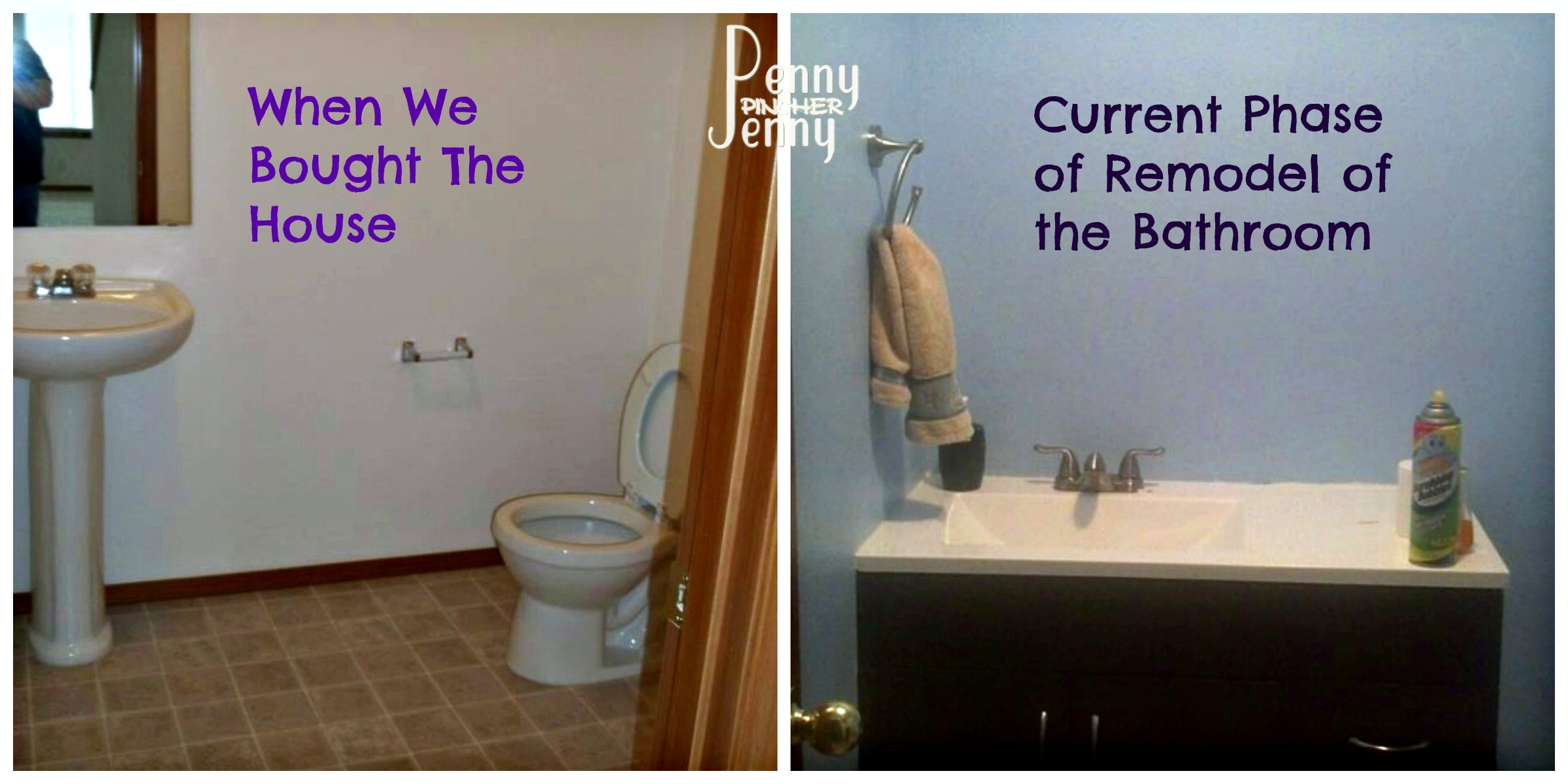 Downstairs Bathroom then and now