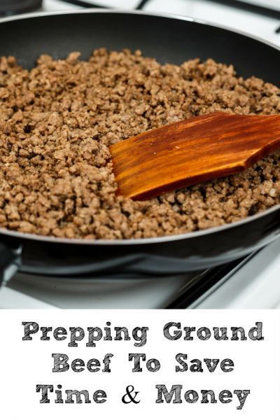Prepping ground beef saves time and money!! Also less excuse to run out and grab something quick cause you forgot to take something out for dinner!