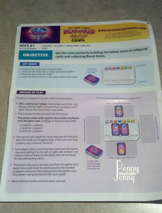 bejeweled card game instructions