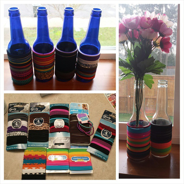 Bottle Hair Tie Holders! Great For Old Bottles!