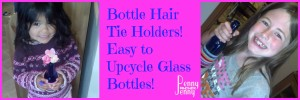 Bottle hair tie holders are a great use for old bottles especially if you can find the colorful bottles!! Plus you can decorate several different ways too.
