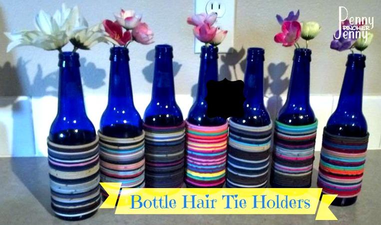 Bottle Hair Tie Holders! Great For Old Bottles!