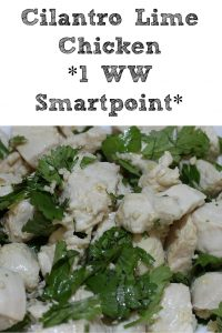 Cilantro Lime Chicken Recipe is the perfect 1 Weight Watchers Smart Points dinner! The whole family will love this dish, and perfect leftovers!