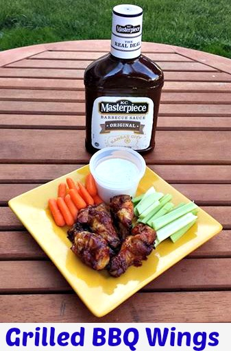 Grilled BBQ Wings are a great for summer time grilling!! I love that these are only three ingredients and they are ingredients I have in my house as staples