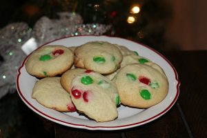 This M&M Cake Mix Cookies Recipe is perfect to use up holiday M&Ms! So easy to make and the cookies turn out perfect, perfect Christmas cookies to make!
