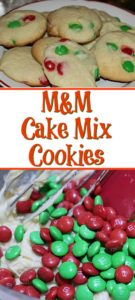 holiday M&Ms! So easy to make and the cookies turn out perfect, perfect Christmas cookies to make!