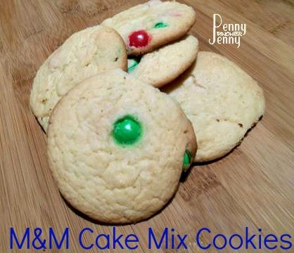 M&M Cake Mix Cookies