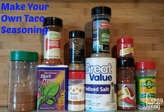 Make your own homemade taco seasoning penny pincher jenny for Create your own penny