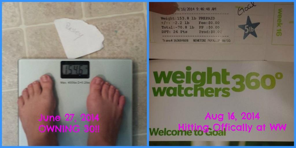 Offical Weight Watcher Goal