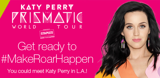 Enter to Win A Trip To Katy Perry Concert And Meet Her! #MakeRoarHappen