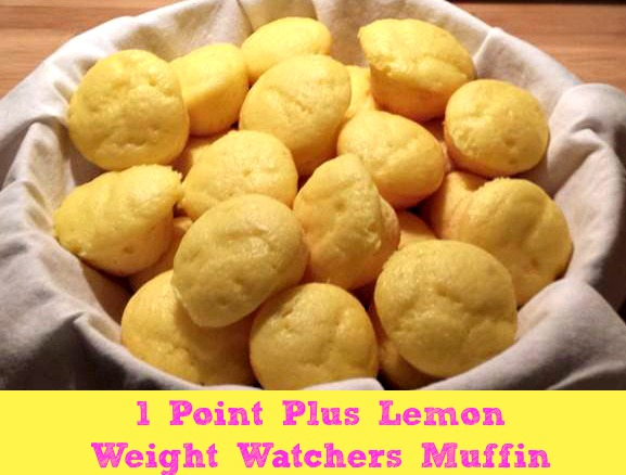 Lemon Weight Watchers Muffins are only 1 Points Plus Value and made with only three ingredients!!