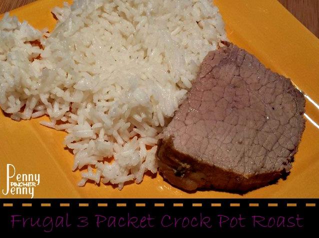 Frugal 3 Packet Crock Pot Roast