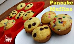 This Pancake Muffins Recipe is amazing and the recipe is perfect for making muffins for the kids for school!! Home made and freezeable!