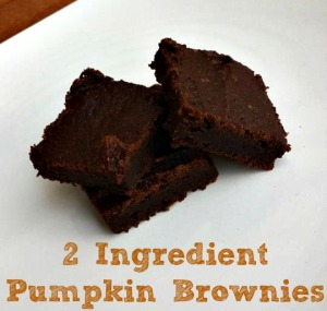 2 Ingredient Pumpkin Brownies Done