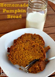 This Homemade Pumpkin bread is the perfect way to bring in cooler weather or dream of fall and everything baking!!! Easy frugal bread to make and freeze!