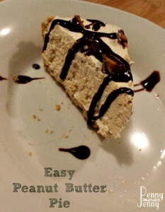 Easy peanut butter pie is the perfect no bake dessert to make for holiday dinners or any other time of year. Plus as a frozen pie, it's easy to prep early.