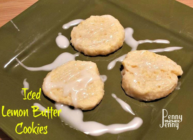 Iced Lemon Butter Cookies