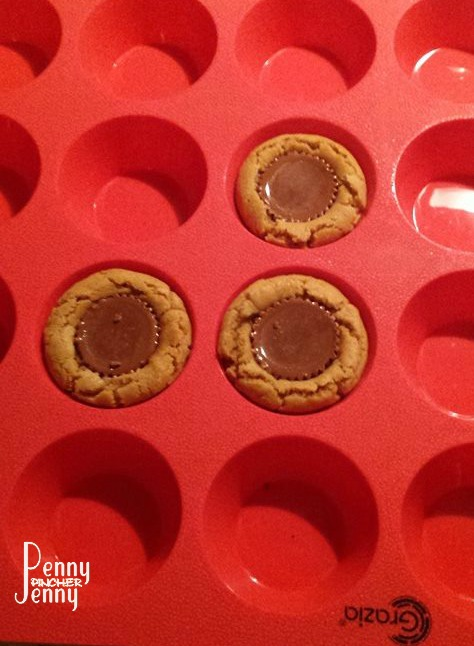 This Peanut Butter Cup Cookies Recipe is full of amazing peanut butter cookie flavor and a peanut butter cup! Made with muffin tins they are amazing!