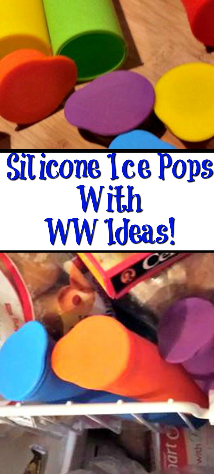 Silicone Ice Pops are a great way to make your own treats at what you are eating as well! When you know whats in your treats is important, plus you can make the treats Weight Watchers friendly as well.