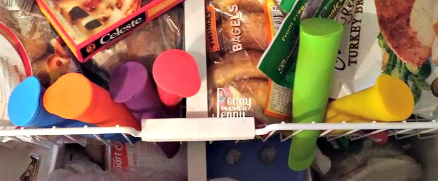 Silicone Ice Pops in Freezer