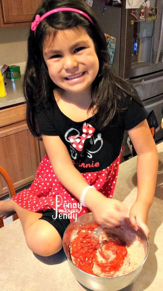 Bella Making Red Velvet Weight Watchers Muffins