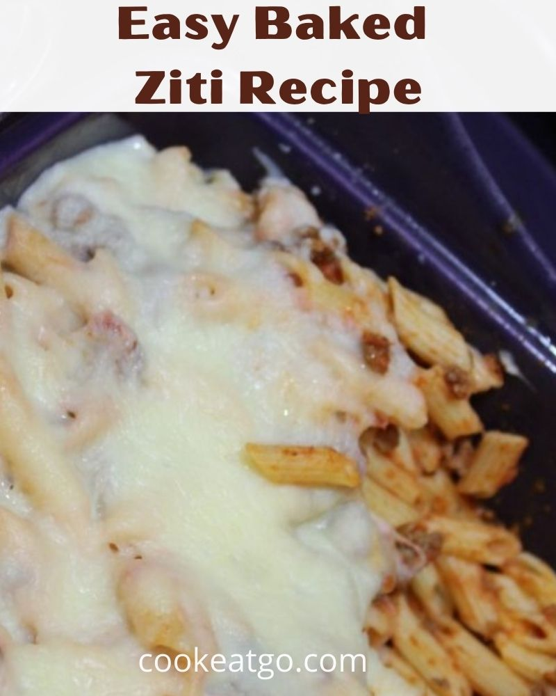 This Easy Baked Ziti Recipe is a perfect weeknight dinner! Or use leftover spaghetti with cheese as well! Easy dinner with meat, cheese, sauce, and pasta!