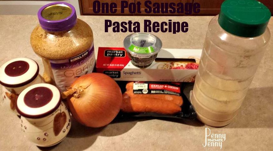 One Pot Sausage Pasta Ingredients