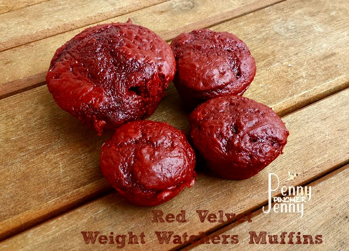 Red Velvet Weight Watchers Muffins big and small