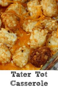 This Tater Tot Casserole Recipe is the perfect frugal easy weeknight recipe that everyone will love plus you can slip in vegetables in it as well!