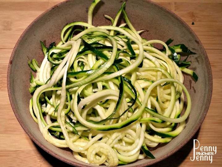 Cilantro Lime Chicken Zucchini Noodles