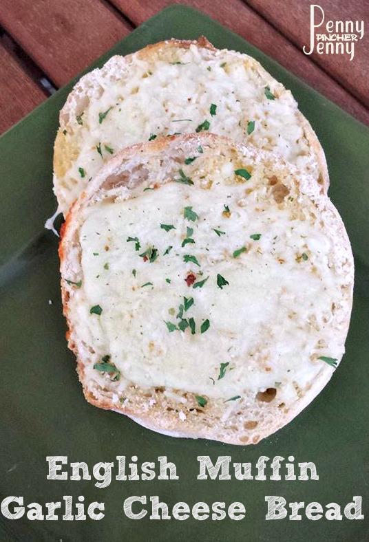 English Muffin Garlic Cheese Bread