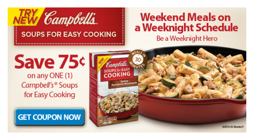 Campbell's Soups for Easy Cooking Coupon