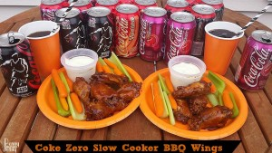Coke Zero Slow Cooker BBQ Wings