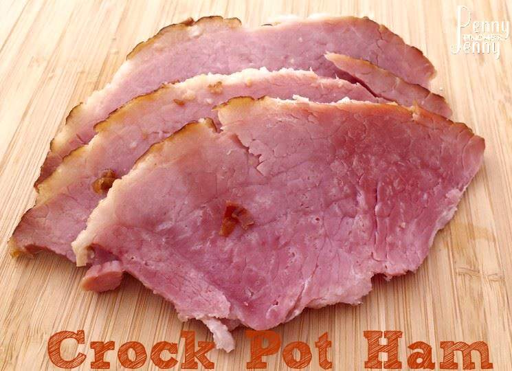 This easy Crock Pot Ham recipe is a great way to make a ham dinner and not heat up your house! Our ham always comes out amazing and full of flavor!