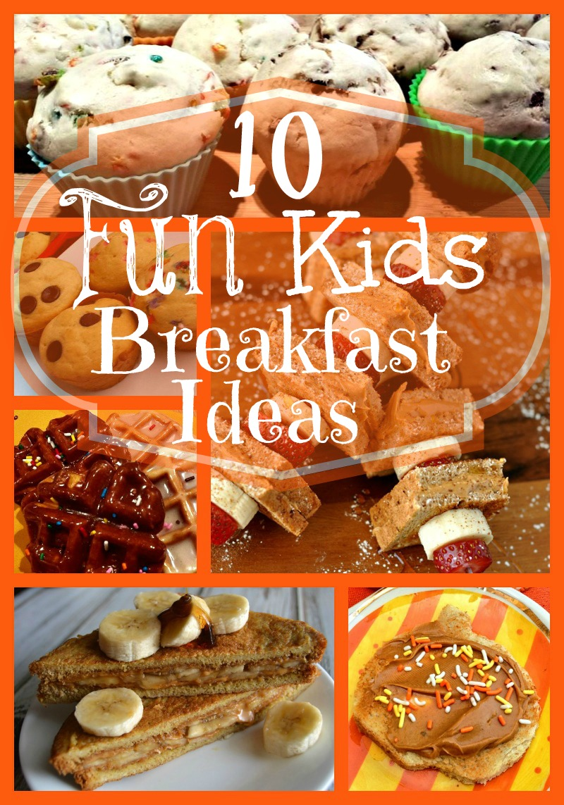 These 10 Fun Kids Breakfasts are a great way to enjoy having the kids home over the summer or to celebrate a special occasion!