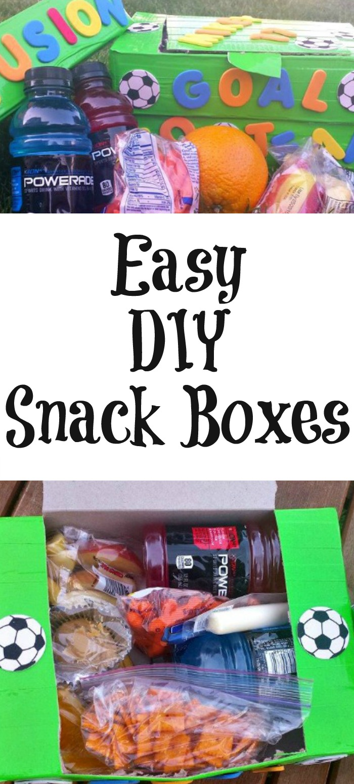 Snack time is important to every athlete! Make these snack Boxes as a way to help fuel their bodies before or after the game, easy to make and reuse too.