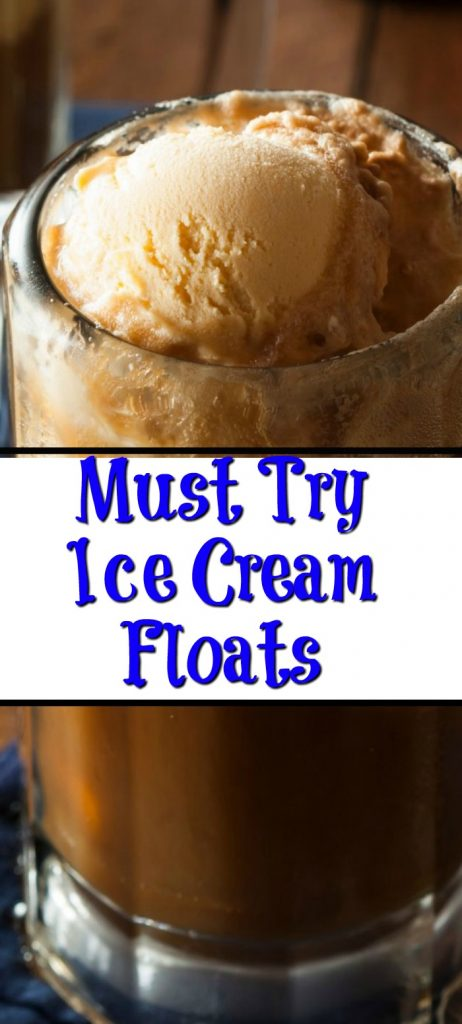 Ice Cream Floats, the perfect way to cool down in the summer or a treat in the winter time! Make with soda, milk, or juice, perfect for an Ice Cream Float!
