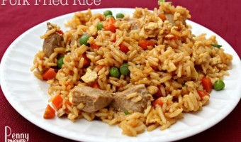This Pork Fried Rice is so easy to make for a quick weeknight dinner when we used Hormel Always Fresh Pork Tenderloin.