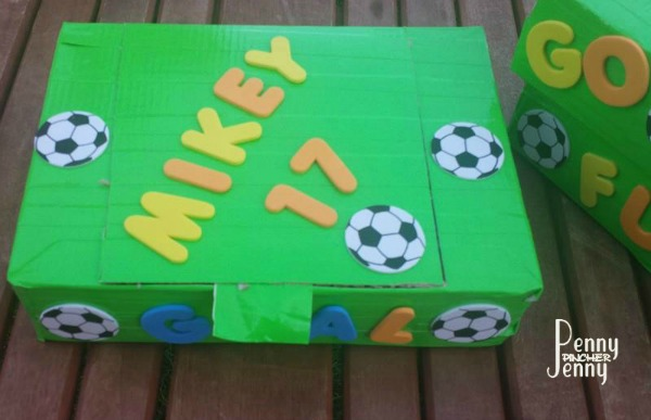 Powerade Snack Boxes Assembled and decorated