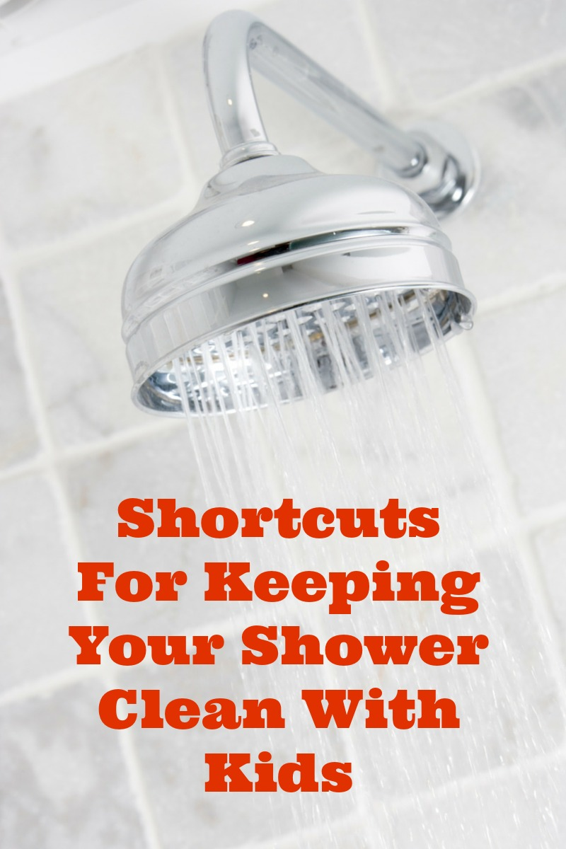 Shortcuts To Keep A Shower Clean With Kids