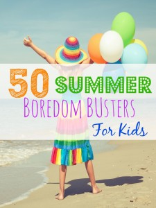 These 50 Summer Boredom Busters for Kids are a great way to help your kids help fight the summer boredom. There are a lot of great frugal things to do!