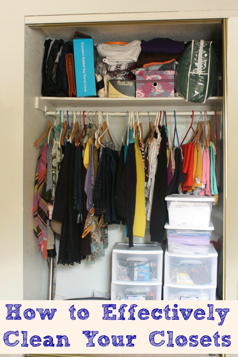 This quick How to Effectively Clean Your Closets will help you get those closets in shape in no time! This is important to do at least once a year.