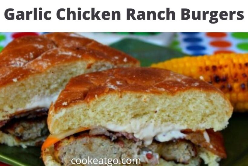 These Roasted Garlic Chicken Ranch Burgers are amazing and perfect to make on the grill! We paired these up with our grilled corn for a perfect dinner!