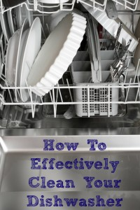 Looking for ways on How To Clean Your Dishwasher? These are great easy frugal tips to help keep your dishwasher clean and running great.