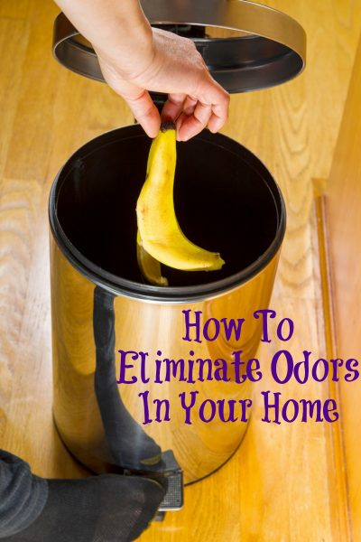 How to Eliminate Odors in Your Home! This a common quest of mine with three kids and a busy household of people! There are many frugal ways to do so!