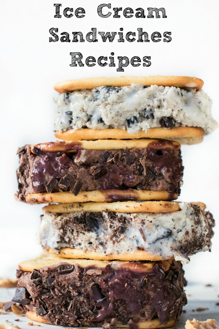 Ice cream is the perfect summertime treat!! These Ice Cream Sandwich Recipes for BBQs and potlucks are perfect summertime treat! Easy to make at home and the perfect way to cool off in the summer heat as well!
